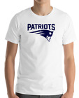 New England Patriots White T-Shirt navy Graphic Cotton Adult Logo S-3XL on eBay