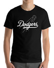 Los Angeles Dodgers black T-Shirt Graphic Cotton Adult white Logo T-Shirt M-3XL on Ebay
