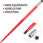 "32""39""43""47""49"" Square Hay Bale Spear Spike Fork Sleeve Nut Heavy Duty Tractor"