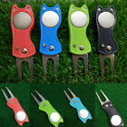 Golf Ball Marker Switchblade Pitchmark Divot Repair Tool Pitch Groove Cleaner US