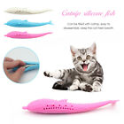 Cat Kitten Fish Toothbrush Catnip Flavor Silicone Molar Stick Teeth Cleaner Toy
