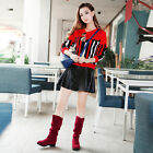 Fashion Women Mid Calf Suede Long Boot Ladies Winter Snow Boots Work Flat Shoes, used for sale  Shipping to Canada