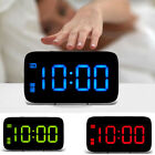 Large LED Digital Alarm Snooze Clock Voice Control Time Display 5 Screen US