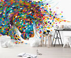 3D Color Horse B34 Wallpaper Wall Mural Removable Self-adhesive Sticker Zoe