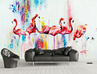 3D Flamingo Paintin B35 Wallpaper Wall Mural Removable Self-adhesive Sticker Zoe