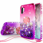For Samsung Galaxy Note10,Note 10+ Liquid Glitter Diamond Ring Stand Phone Case