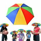 Sun Umbrella Hat Outdoor Hot Foldable Golf Fishing Camping Headwear Head Cap AU