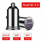 Dual USB Car Charger QC 3.0 All Metal Fast Charging 36W 6A Mobile Phones Adapter