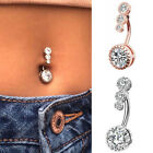 Fashion Navel Belly Button Rings Surgical Steel Zircon Body Piercing Jewelry image