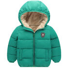 Toddler Kids Baby Boy Girl Winter Warm Hooded Furry Coat Thick Jacket Outwear