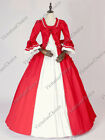 Renaissance Princess Fairytale Red Belle Period Dress Theatrical Ball Gown 257