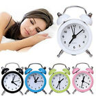 Mini Round Alarm Clock Desktop Table Bedside Kids Adult Travel Home Office Decor