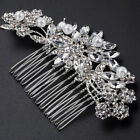 Bridal Hair Comb Pearl Crystal Headpiece Wedding Accessories Silver 3 Styles