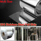 304 Stainless Steel Band Foil Sheet Plate Strip 1M Panel thickness 0.05mm-0.2mm