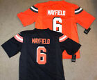 Baker Mayfield #6 Cleveland Browns Mens Brown or Orange Jersey