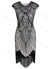 Art Deco 1920s Beaded Flapper Gatsby Cocktail Dress Wedding Party Formal Dresses