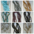 110 - 120pcs x 4mm+ Beautiful Glass Crystal Rondelle Beads 10Colours UK Seller