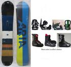 """NEW ARIA """"PHASE"""" SNOWBOARD, BINDINGS, BOOTS PACKAGE - 154cm"""