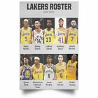 Fan Lakers Roster 2019-2020 Los Angeles Lakerss Posters Unique Gift Decor on eBay