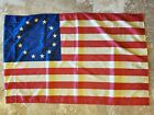 Betsy Ross US 28x48 Inch Rustic Patriotic American USA Stars Stripes House Flag