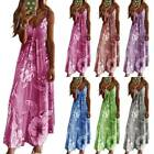 Womens Ladies Floral Strappy Long Maxi Dress Casual Holiday Beach Party Sundress