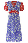 NEW Hvn floral-printed paula dress FW193005 Combo Wildflower AUTHENTIC NWT