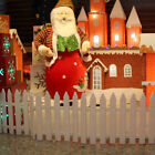 Uk 50pcs! Christmas Xmas Picket Fence Garden Fencing Lawn  Home Yard Tree Fence