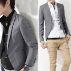 Mens Slim Formal Suit Button Blazer Office Business Career Coats Jacket Outwear