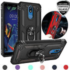 For LG Rebel Phoenix Aristo 2/3/4 Plus Case, Magnetic Metal Ring Kickstand Cover