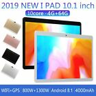 """2in1 3G 4G SmartPhone + WiFi Phablet Tablet PC 10"""" Android 8.1 UNLOCKED Dual SIM"""