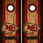 Kansas City Chiefs Cornhole Wrap NFL Decal Wood Vinyl Gameboard Skin Set YD324 $39.55 USD on eBay