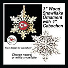 FREE DESIGN> KANSAS CITY CHIEFS, 2 Designs -Snowflake Ornament, Natural or White $4.99 USD on eBay