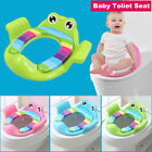 Portable Baby Toilet Seat Pads Soft Handle Frog Cushion Trainer Potty Training image