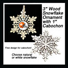FREE DESIGN > CLEVELAND BROWNS - Snowflake Ornament, Natural or White $5.99 USD on eBay