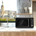 Compact and Retro Glass Turntable Retro Countertop Microwave Oven 700W