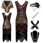 Vintage 1920s Flapper Dress Gatsby 20s Party Prom Evening Cocktail Dress 6-20