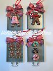 Kyпить Mini Gingerbread Cookie Baking Tray Xmas Tree Clay Ornaments Candy Cane Donut  на еВаy.соm