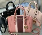 Michael Kors Medium Ciara Leather Messenger Bag Top Zip Satchel Pink Black