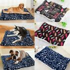 Pet Dog Cat Cute Bed Cushion Mat Pad Kennel Crate Cozy Warm Soft House S XL