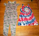 JUSTICE CAMO JUMPSUIT OR PATRIOTIC TIE DYE STAR DRESS GIRLS SZ 22 24 PLUS