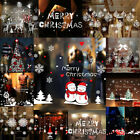 Christmas Removable Glass Window Stickers Clings Santa Claus Xmas Home Decor New