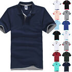 Mens Short Sleeve Basic T-shirt Golf Polo Shirts Summer Sports Casual Tee Tops