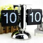 Retro Flip Down Clock Desk Vintage Stainless Steel Table Home Decoration Gift