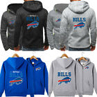 Buffalo Bills Hoodie Football Hooded Sweatshirt Fleece Full-Zip Jacket Fans Gift $23.74 USD on eBay