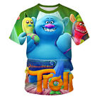 Hot Fashion New Women Men T-Shirt 3D Print Cartoon Trolls Short Sleeve Tee Tops image
