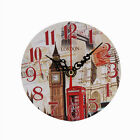 Fashion Decor Home Kitchen Office Clock Round Square Silent Wood Wall Clock UK