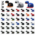 Embroidery Logo MLB Flat Brim Bill Adjustable Snapback Closure Baseball Cap Hat on Ebay