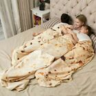 Adult Baby Tortilla Burrito Throw Blanket BedspreadSoft Warm Round Swaddle Wrap image