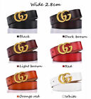Kyпить Women's Genuine Leather Belts Jeans With Letter Style Logo wide 2.8cm NEW на еВаy.соm