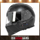T14B Full Face Motorcycle Helmet Bluetooth Racing Flat Black American Flag M DOT